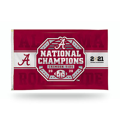 Alabama 2020 National Champions Banner Flag