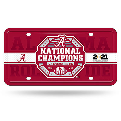 Alabama 2020 National Champions Metal Car Tag