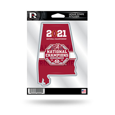 Alabama 2020 National Champions Home State Sticker