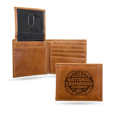 Alabama 2020 National Champions Laser Engraved Billfold