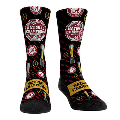 Alabama 2020 Fooball National Champion Trophy Socks