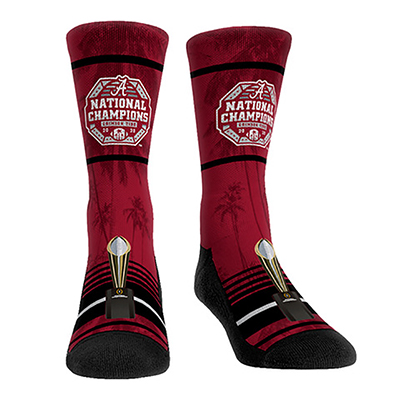 Alabama 2020 Football National Champion Victory Palm Socks