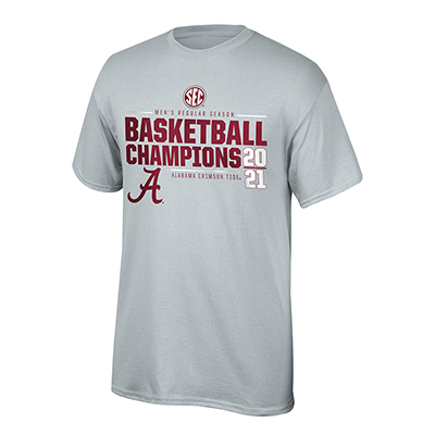 Alabama Crimson Tide 2021 Sec Regular Season Basketball Champions T-Shirt