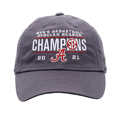 Alabama Crimson Tide 2021 Sec Regular Season Basketball Champions Cap