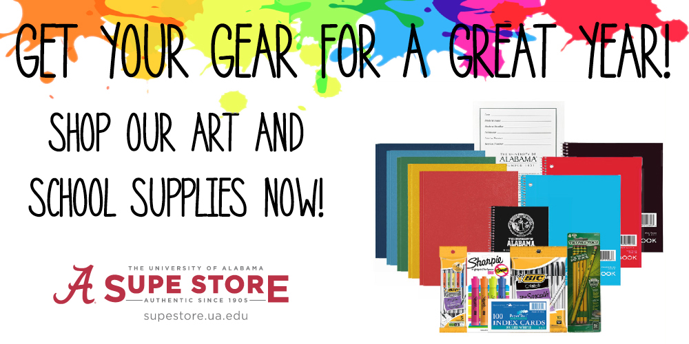Get your gear for a great year!  Shop our Art and School Supplies now.