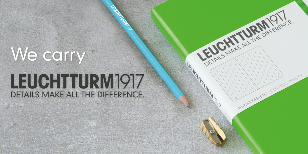 We carry Leuchtturm 1917.  Details make all the difference.