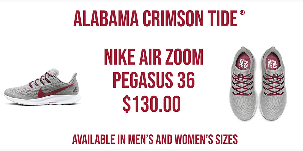 Alabama Crimson Tide Nike Air Zoom Pegasus 36