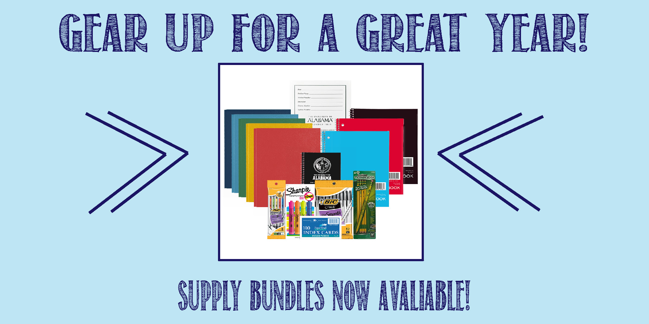 Gear up for a great year!  Supply Bundles now available.
